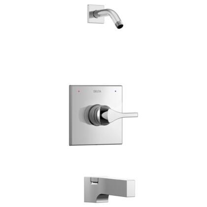 Zura T14474-LHD Delta Zura: Monitor 14 Series Tub and Shower Trim - Less Shower Head in Chrome