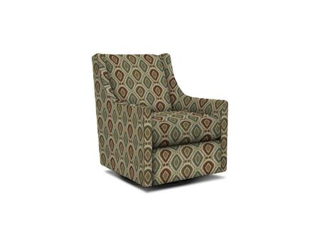 "Bassett Furniture Falon Collection 1138-09/BEx 29"" Swivel Glider Chair with Fabric Upholstery, Wing Back, Down Sloping Curved Arms and Contemporary Style in"