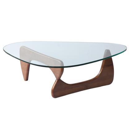 Fine Mod Imports FMI1119MIDWALNUT Mid Walnut Modern Table