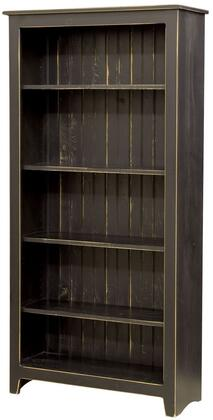 Chelsea Home Furniture 465115BL Fideline Series Wood 4-5 Shelves Bookcase