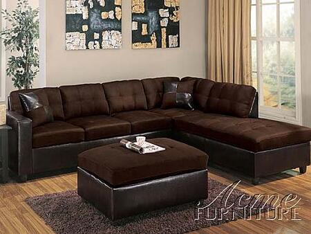 Acme Furniture 10103 Milano Series Sectional Chocolate Sofa