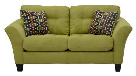 """Jackson Furniture Halle Collection 4381-02- 73"""" Loveseat with Flared Arms, Suede Like Fabric Upholstery and Tapered Legs in"""