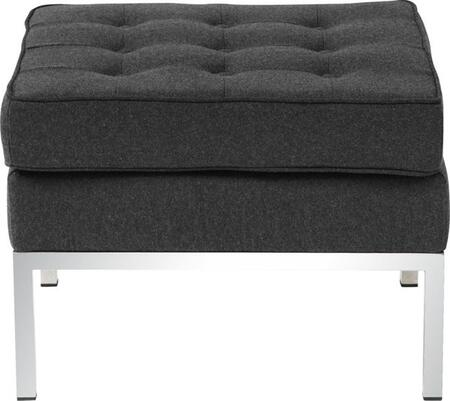 Fine Mod Imports FMI10045GRAY Button Series Contemporary Fabric Ottoman