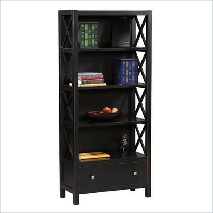 Linon K86103C124 Anna Series Wood 5 Shelves Bookcase