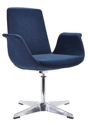 VIG Furniture VGOBTY67BLU Modrest Dacia Series Armchair Fabric Metal Frame Accent Chair