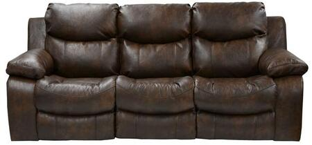 """Catnapper Catalina Collection 90"""" Reclining Sofa with Dramatic Luggage Stitching, Designer Arm Frame, Headrest, European Inspired and Valentino Bonded Leather Touch Upholstery"""