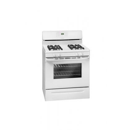 Frigidaire FFGF3021LW  Gas Freestanding Range with Sealed Burner Cooktop, 5.0 cu. ft. Primary Oven Capacity, Storage in White