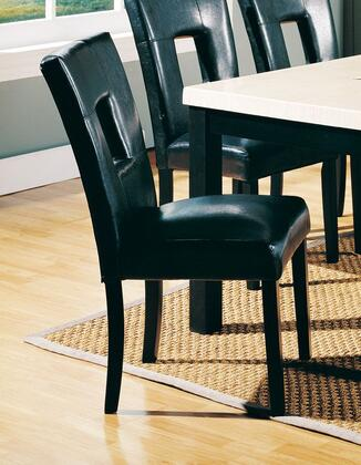 Meridian 751C Contemporary Leather Wood Frame Dining Room Chair