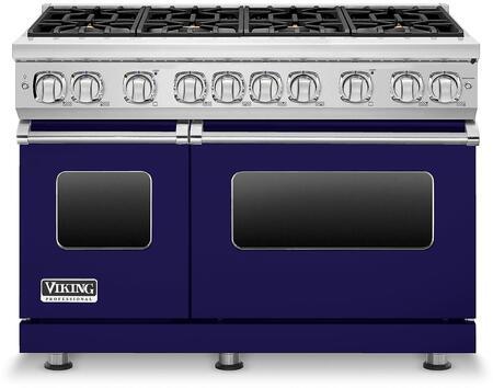 Viking Vgr7488bcb 7 Series 48 Inch Cobalt Blue Gas Convection Freestanding Range