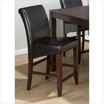 Jofran 888BS485KD Carlsbad Series Residential Leather Upholstered Bar Stool