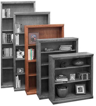 Legends Furniture TT6660GDOTraditional Series Wood 4 Shelves Bookcase