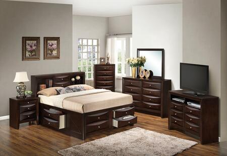 Glory Furniture G1525GKSB3DMNCHTV2 G1525 King Bedroom Sets