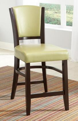Coaster 103689GRN Dining 1036 Series Casual Vinyl Wood Frame Dining Room Chair