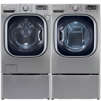 LG LG4PCFL27E2PEDSSKIT7 TurboWash Washer and Dryer Combos