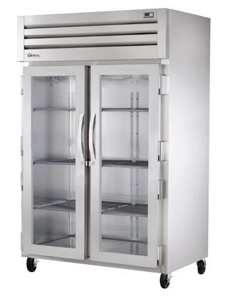 True STA2R Spec Series Two-Section Reach-In Refrigerator with 56 Cu. Ft. Capacity, 134A Refrigerant, LED Lighting and Swing-Doors
