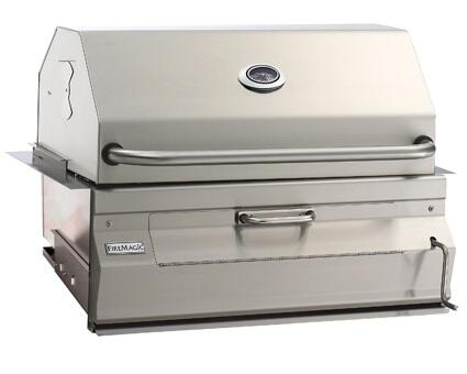 "FireMagic 12SX01CA Charcoal 24"" Stainless Steel Grill with Stainless Steel Construction and Hood"