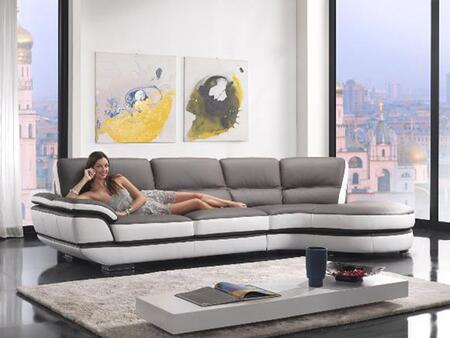 VIG Furniture VGKNK8456 Divani Casa Rapture Series Sofa and Chaise Sofa