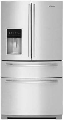 """Jenn-Air JFX2897DR 36"""" Standard-Depth French Door Refrigerator with 18.4 cu. ft. Refrigerator Capacity, 7.77 cu. ft. Freezer Capacity, LED Lighting, FreshFlow Air Filter, in Stainless Steel"""