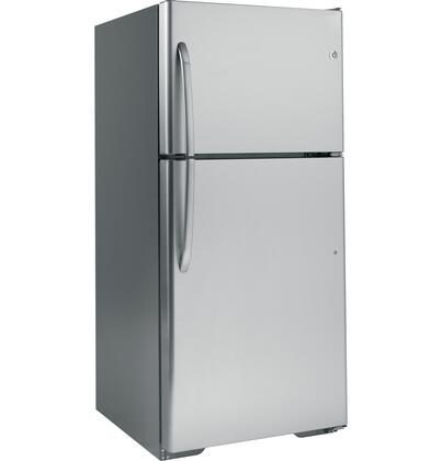"GE GTH20SBBSS30"" Freestanding Top Freezer Refrigerator with 20 cu. ft. Total Capacity 3 Glass Shelves 5.78 cu. ft. Freezer Capacity"