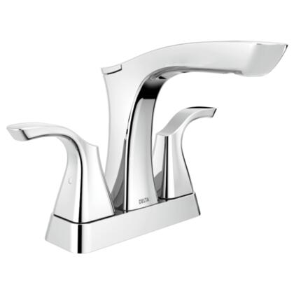 Tesla  2552-MPU-DST Delta Tesla: Two Handle Centerset Lavatory Faucet - Metal Pop-Up in Chrome