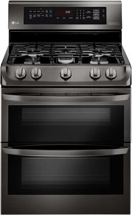 """LG LDG4315 30"""" Freestanding Double Gas Range with 6.9 cu. ft. Oven Capacity, 5 Sealed Burners, ProBake Convection, and EasyClean"""