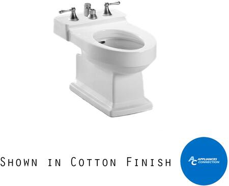 Toto BT930B Lloyd Series Four-Hole Bidet with Vitreous China Construction and Integral Overflow