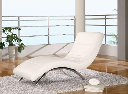 Global Furniture USA 820R2VWH Modern Faux Leather Chaise Lounge