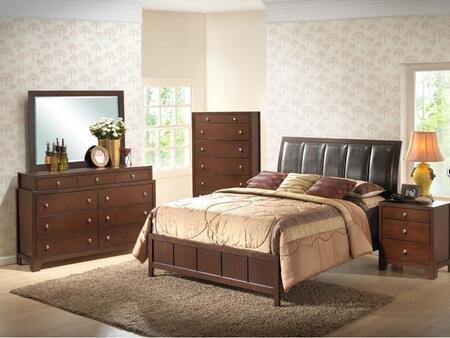 Wholesale Interiors IDB0195PCKINGBEDSET 5 Piece Bedroom Set