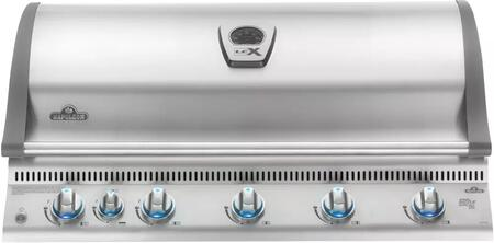 """Napoleon BILEX730RBIxSS 43"""" Lex 730 Series Built-In Grill with 4 Stainless Steel Bottom Burners, 1 Ceramic Infrared Bottom Burner, 1 Rear Infrared Burner, 95500 Total BTUs, 1025 sq. in. Total Cooking Area, in Stainless Steel"""