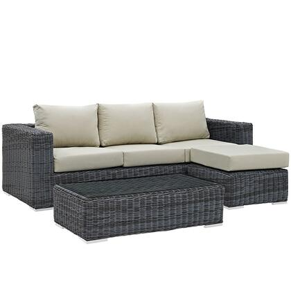 Modway EEI1903GRYBEISET Rectangular Shape Patio Sets
