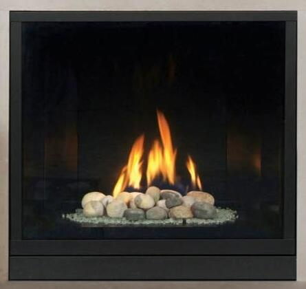 Majestic BLDVXXXNSCSL Solitaire Direct Vent Gas Fireplace Up to XX BTUs with Clean Face Design, Signature Command System and Certified Safety Barrier