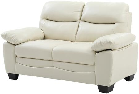 Glory Furniture G675L Faux Leather Stationary Loveseat