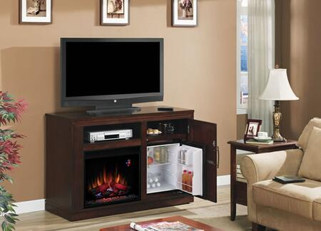 Classic Flame 23TF2587XXX PartyTime Triple Function Media Cabinet with Mini-Fridge, Media Console and Electric Fireplace in XXX