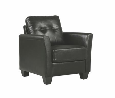 Glory Furniture G572C G570 Series Faux Leather Armchair in Black