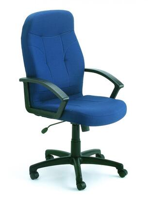 "Boss B8801 42"" Executive Fabric Chair with Ergonomic Seating, Gas Lift Seat Height Adjustment, Adjustable Tilt Tension Control, and 27"" Nylon Base"