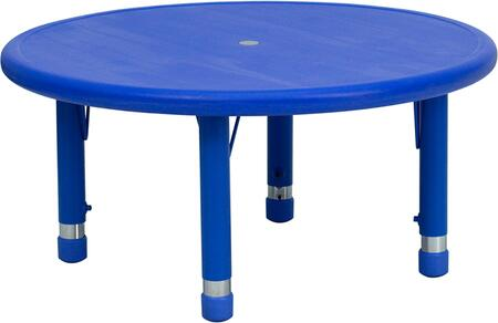 "Flash Furniture YU-YCX-007-2-ROUND-TBL-XX-GG 33"" Round Height Adjustable Plastic Activity Table with Floor Glides"