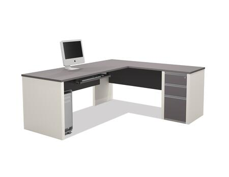 Bestar Furniture 93882 Connexion L-shaped workstation including assembled pedestal