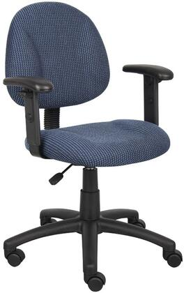 Boss B316 Deluxe Posture Chair with Adjustable Arms, Thick Padded Seat and Back, Waterfall Seat, Adjustable Back Depth, Seat Height Adjustment and 5 Star Nylon Base