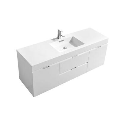 Kubebath Template: BSL60S Single Sink Wall Mount Modern Bathroom Vanity