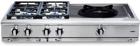 "Capital GRT484WL 48"" PRECISION Series Liquid Propane Sealed Burner Style Cooktop"