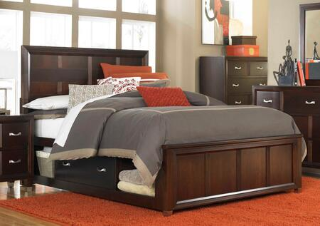 Broyhill EASTLAKEBED Eastlake 2 Storage Panel Bed: Brown Cherry