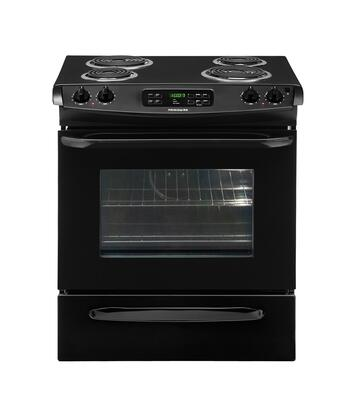 """Frigidaire FFES3015LB 30"""" Slide-in Electric Range with Coil Cooktop Storage 4.2 cu. ft. Primary Oven Capacity"""
