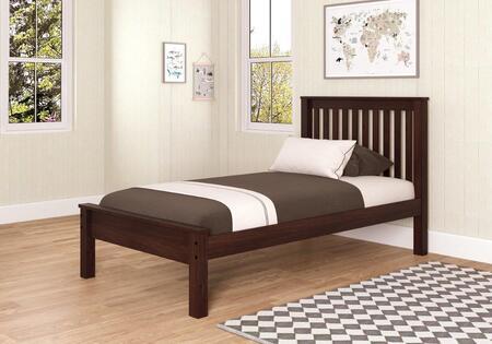 Donco 500CP Wood Contempo Bed: Cappuccino