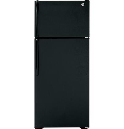 GE GTH18GBDBB Freestanding Top Freezer Refrigerator with 18.1 cu. ft. Total Capacity 2 Glass Shelves 4.22 u. ft. Freezer Capacity