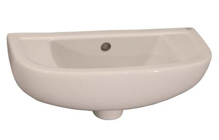 Barclay 4R561WH White Wall Mount Sink
