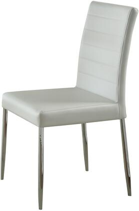 Coaster 120767WHT Vance Series Casual Vinyl Metal Frame Dining Room Chair