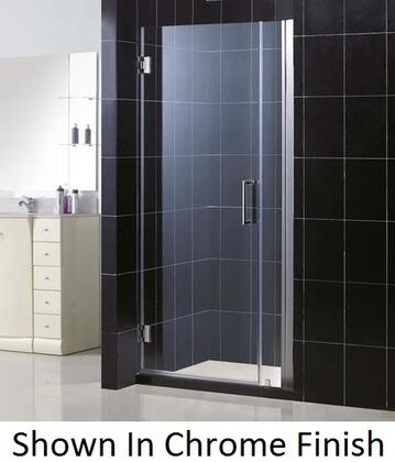 DreamLine SHDR-20347210 Unidoor Frameless Hinged Shower Door With Self-Closing Solid Brass Wall Mounted Hinges (5 Degree Offset), Reversible For Right or Left Door Opening &