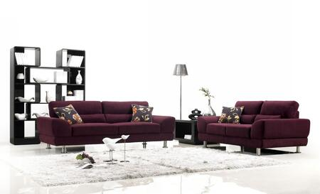 VIG Furniture 1005SOFASET Modern Fabric Living Room Set