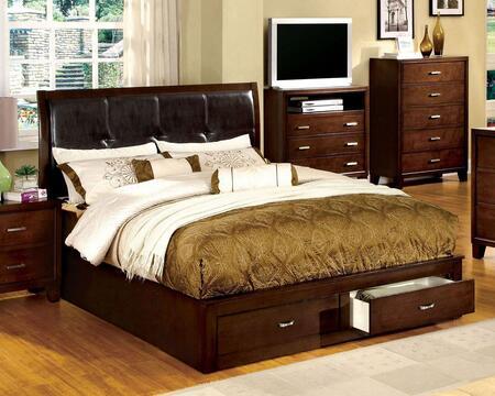 Furniture of America CM7066EKBED Enrico III Series  King Size Platform Bed