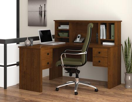 Bestar Furniture 45850 Somerville L-Shaped desk with hutch